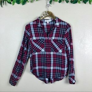 Cloth & Stone • Long Sleeve Plaid Button Down